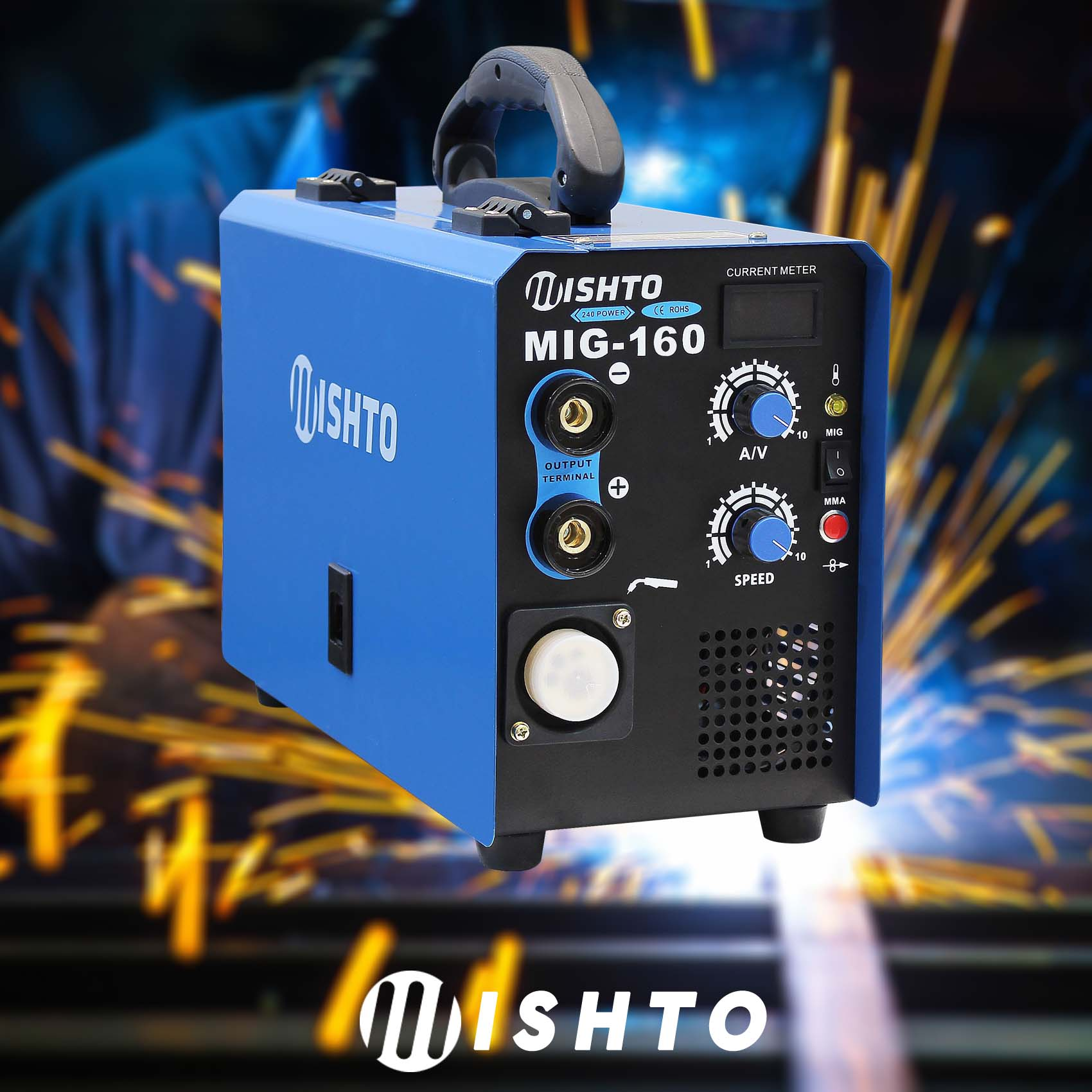 New 160 Amp Mig Arc Gas Gasless Portable Inverter Welder